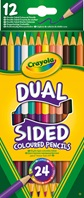 "12 crayons de couleurs ""Dual Sided"""