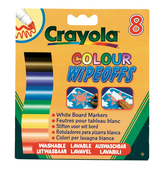 8 Feutres à colorier effaçables (pointe large)