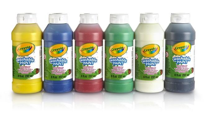 6 bouteilles de peinture lavable crayola for Peinture lavable